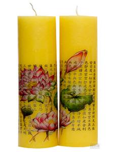 (밀납초) 연꽃 반야심경 (1호,1쌍)