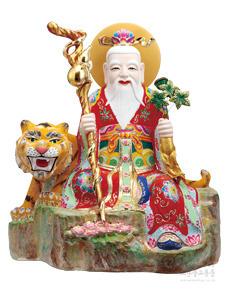 도금칠보 중산신 (홍색) 2자반