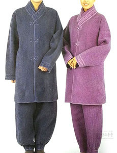 (겨울용) 누비 두루마기+바지 (회색, 권색, 보라)