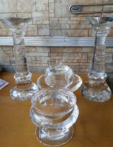 크리스탈 향로, 다기, 촛대 (높이42cm) 낱개