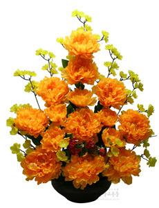 수반형 고급 목단꽃 (노랑)