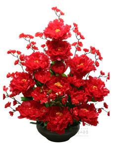 수반형 고급 목단꽃 (빨강)